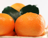 Fresh isolated tangerine Royalty Free Stock Photography
