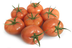 Fresh isolated tomatoes Stock Photo