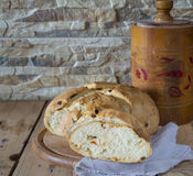 Fresh italian bread and slices of it Stock Photography