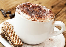 Fresh Italian Cappuccino with Cookies Stock Image