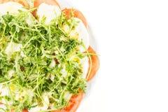 Fresh Italian Caprese Salad isolated on white royalty free stock images