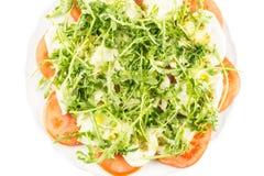 Fresh Italian Caprese Salad isolated on white stock photography