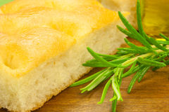 Fresh Italian focaccia Stock Photography
