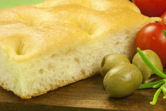 Fresh Italian focaccia Royalty Free Stock Photography