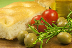 Fresh Italian focaccia Royalty Free Stock Images