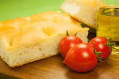 Fresh Italian focaccia Stock Photos