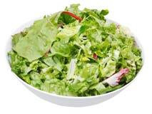Fresh italian lettuce mix in bowl. Isolated on white background Stock Photo