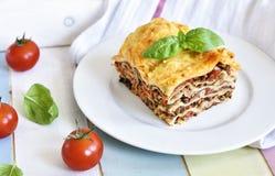 Fresh italian meat lasagne Royalty Free Stock Photos