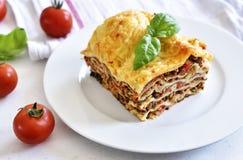 Fresh italian meat lasagne Stock Images