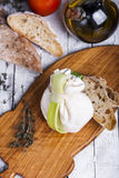 Fresh Italian mozzarella burrata Stock Photography