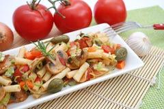 Fresh italian pasta royalty free stock image