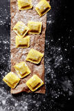 Fresh Italian Pasta in Square Cuts Royalty Free Stock Photography