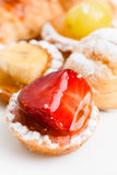 Italian pasta frolla. Fresh italian pastry pasta frolla and cream pastries Royalty Free Stock Images