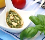 Fresh italian pesto Stock Photography