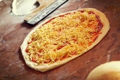 Fresh Italian pizza dough Stock Photo