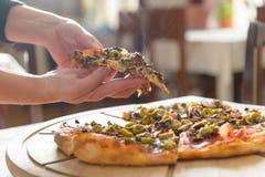 Fresh Italian pizza Stock Images