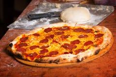 Fresh Italian pizza Royalty Free Stock Image