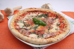 A fresh italian pizza Stock Photos