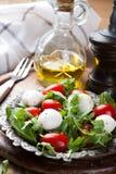 Fresh italian salad with mozzarella cheese Stock Photo