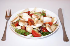 Fresh Italian salad with Mozzarella. Royalty Free Stock Image