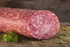 Fresh Italian Salami Stock Photos