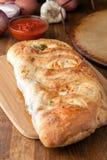 Fresh Italian Stuffed Bread Stock Photo