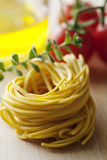 Fresh italian tagliatelle pasta Royalty Free Stock Photo