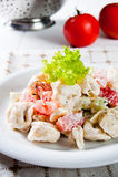Fresh italian tortellini salad Royalty Free Stock Photo