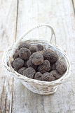 Fresh italian truffles royalty free stock photo