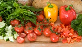 Fresh italian vegetables Royalty Free Stock Images
