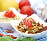 Fresh italien pasta Royalty Free Stock Photos