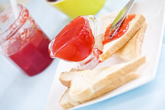 Fresh jam for breakfast Royalty Free Stock Photos