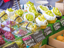 Fresh Japanese grapes sale in the market Stock Photo