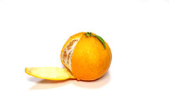 Fresh Japanese orange in the white Stock Photography