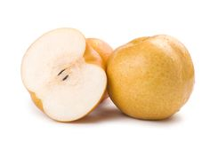 Fresh Japanese pears Stock Images