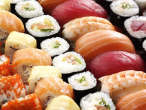 Fresh japanese sushi Stock Image