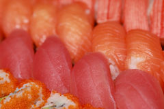 Fresh japanese sushi Stock Photos