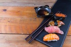 Fresh Japanese sushi. Close-up Stock Photo