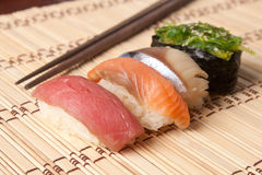 Fresh Japanese sushi nigiri Royalty Free Stock Images