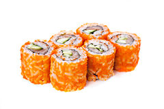 Fresh japanese sushi rolls. Stock Image