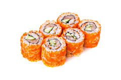 Fresh japanese sushi rolls. Stock Photography
