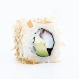 Fresh japanese sushi rolls on a white background Royalty Free Stock Photography