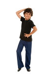 Fresh Jazz Dancing Boy Stock Photos