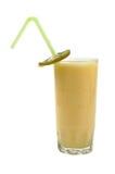 Fresh juice. Fresh kiwi juice on isolated background with straw Stock Image