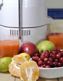 Fresh Juice. Fresh apples, cranberries, pears, lemons, oranges, and limes are ground into fresh juice Royalty Free Stock Images