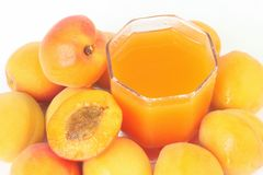 Fresh juice with apricot Royalty Free Stock Photos