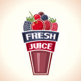 Fresh juice from berries Stock Image