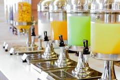 Fresh juice at buffet restaurant Stock Image