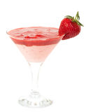 Fresh juice cocktail with strawberry Royalty Free Stock Photo