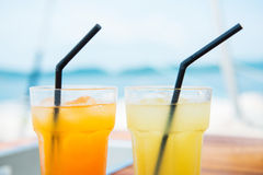 Fresh juice cold for refreshments Royalty Free Stock Images